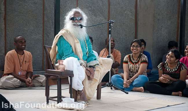 Sadhguru talks to IHS students