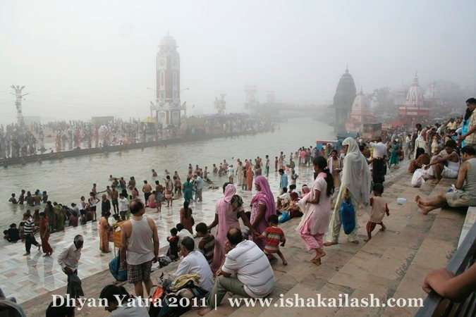 At the banks of the Sacred River Ganga