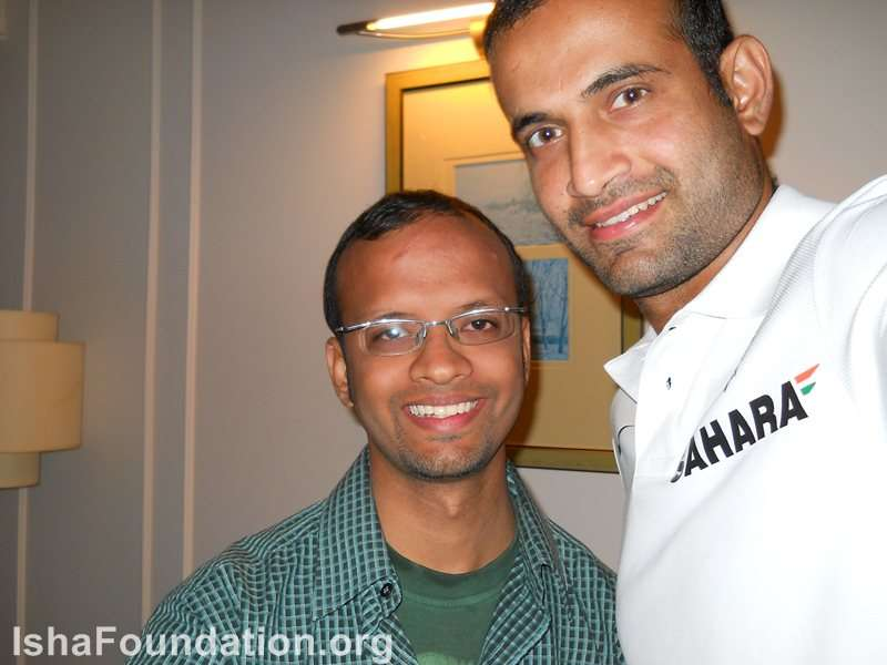 With Irfan Pathan