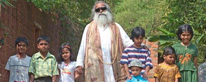 Sadhguru with children