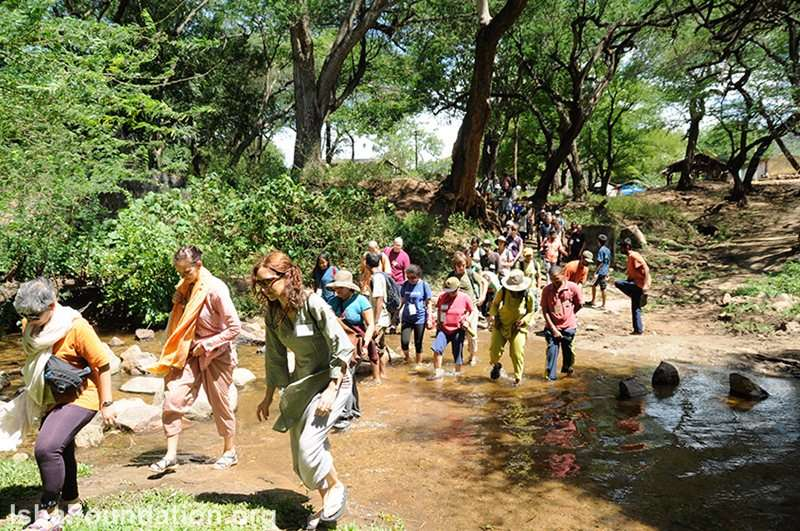Participants on a trek in the Velliangiri Hills