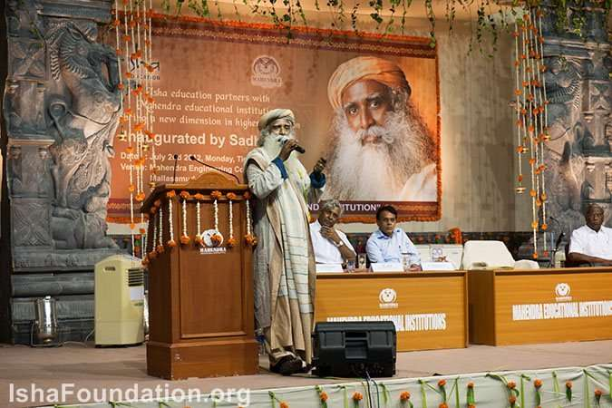 Sadhguru inaugurates isha Education