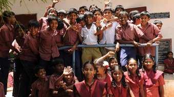 students of Devarayapuram Govt High School