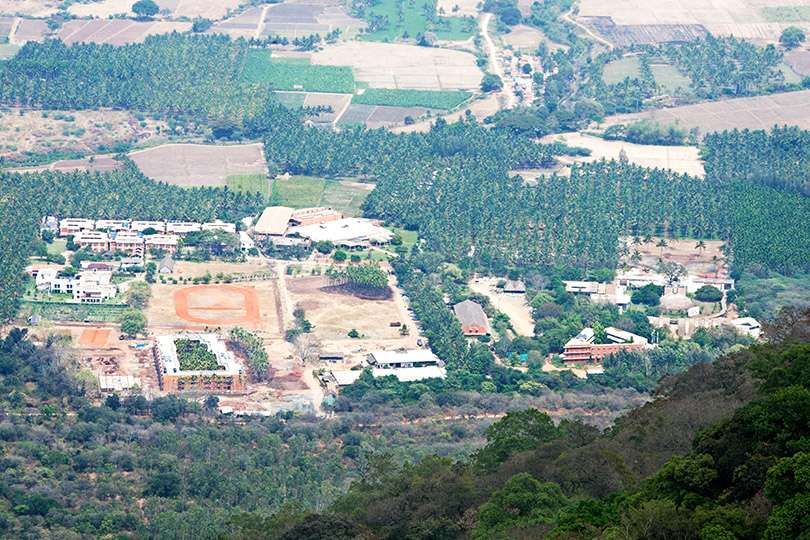 Aerial View of the Isha Yoga Center