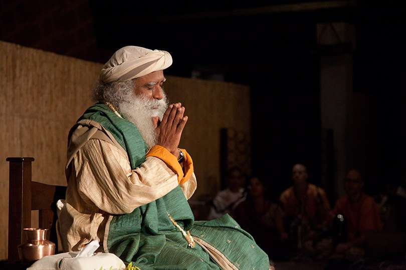 Sadhguru at the Isha Yoga Center