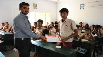 Students were given certificate at the end of the program
