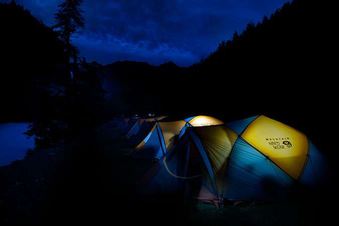 Camping before Yalbang Valley