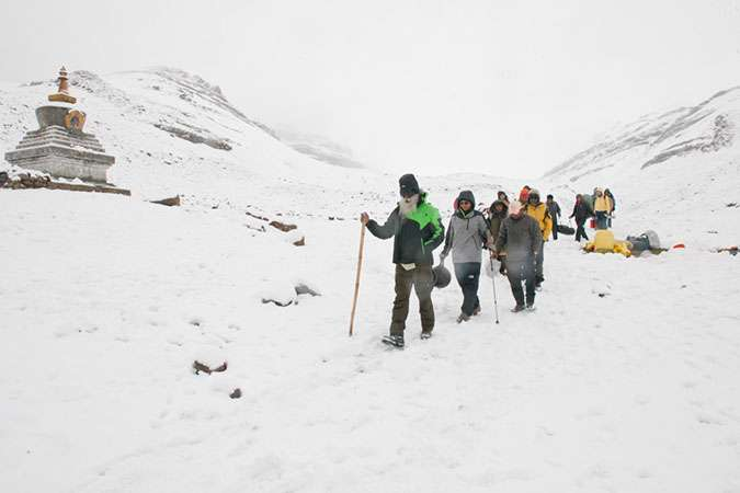 Trek back to Manasarovar from South Kailash