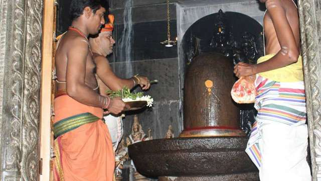 The Linga during the Kumbabhishekam
