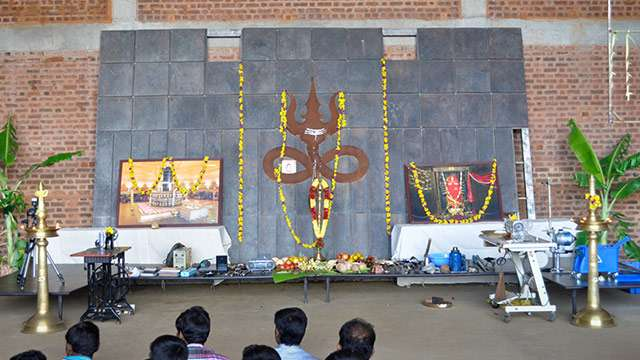 Ayudha Pooja at the Isha Yoga Center