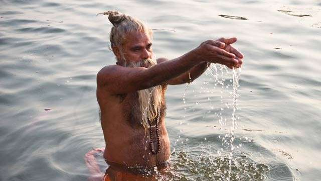 Margazhi Dip in Water