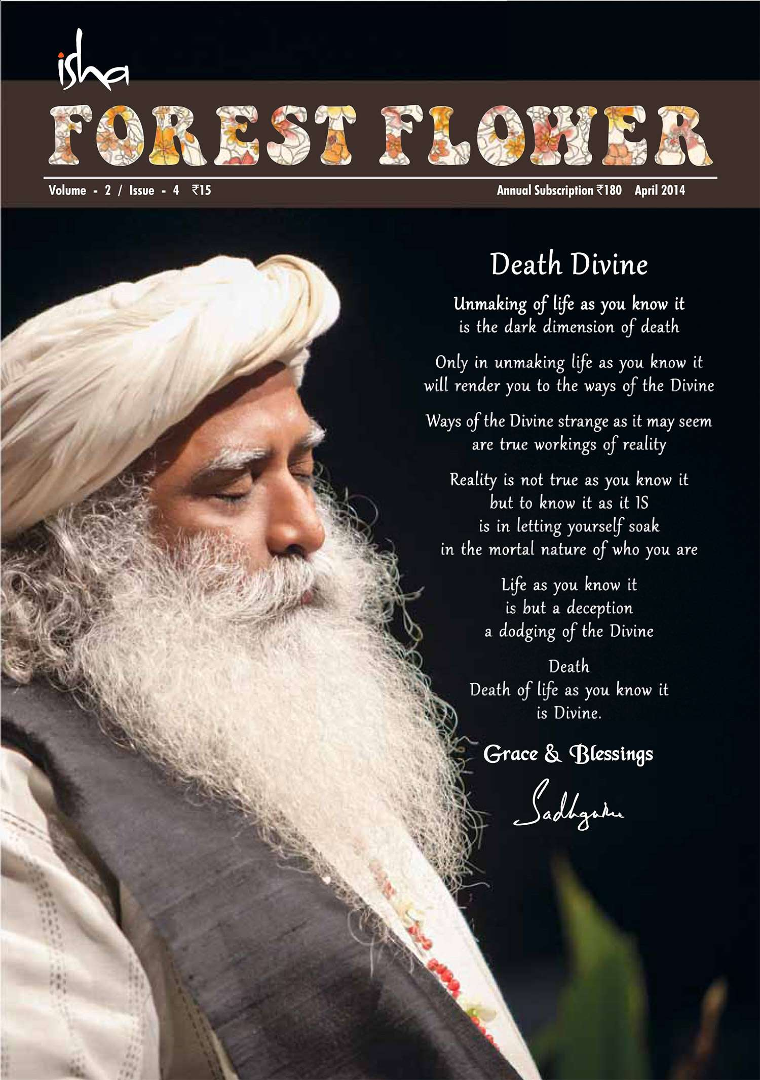 Forest Flower April 2014 - Cover Image
