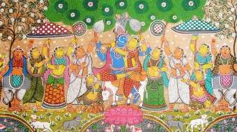 Painting from Orissa of Raas Leela - The Dance of Passion