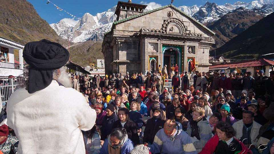 Sadhguru with Himalayas