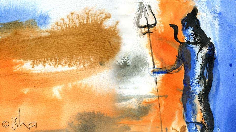 Shiva painting - Guru Pournami Celebrations on July 12