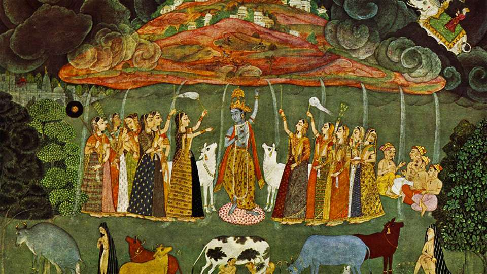 Krishna and the Miracle at Mount Govardhan