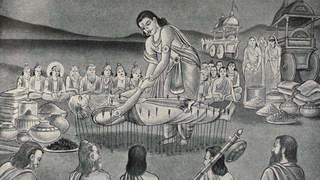 Bhishma on Arrows