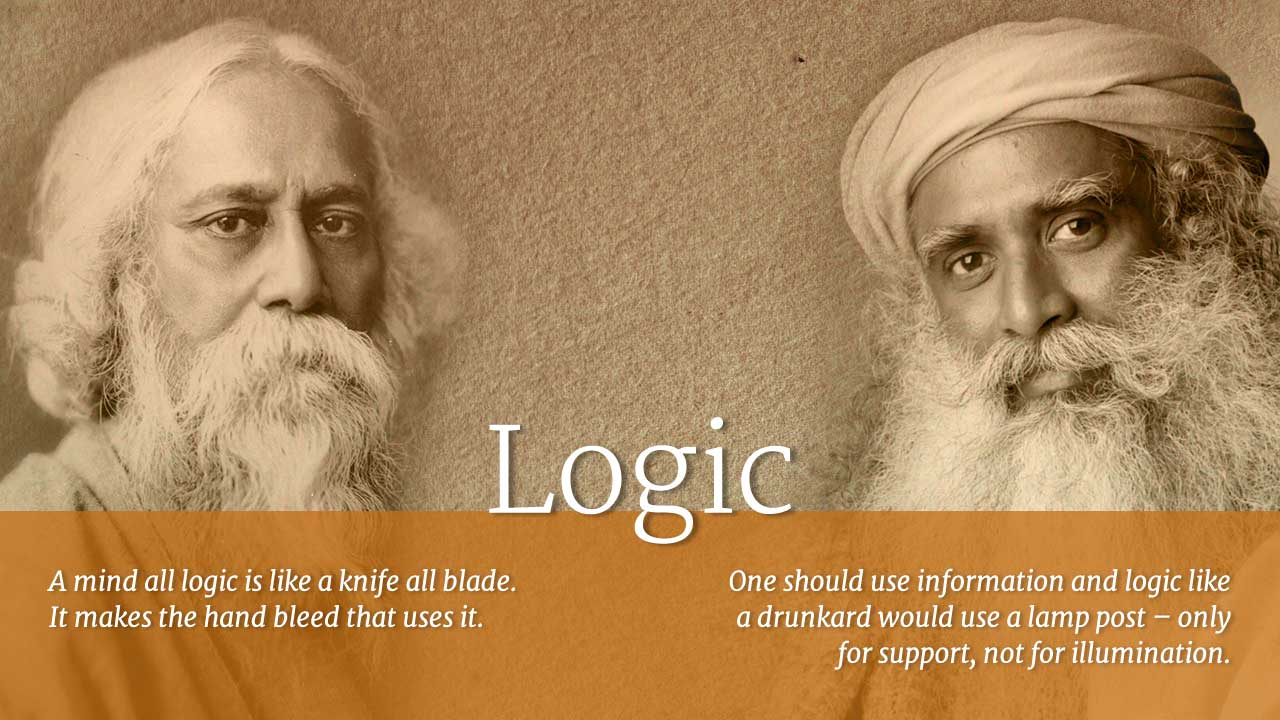 rabindranath tagore and sadhguru quotes