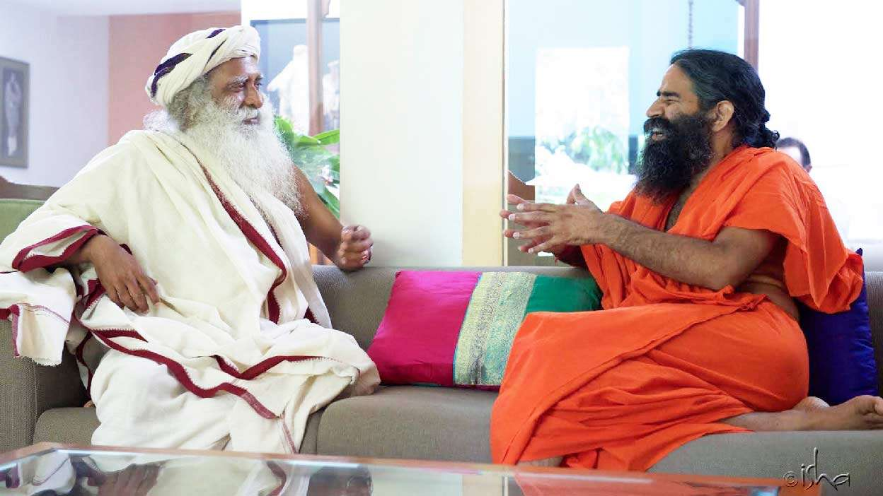 Sadhguru with Baba Ramdev