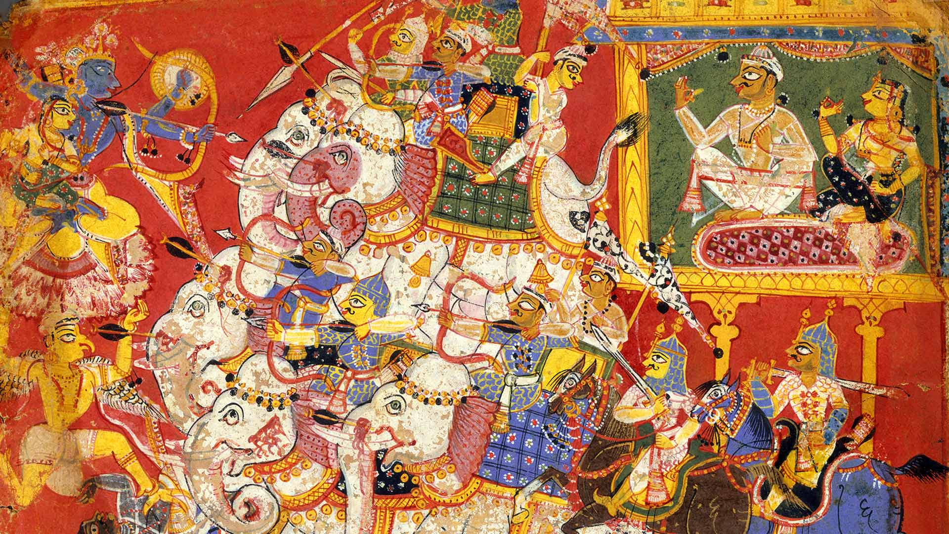 Krishna Battles the Armies of the Demon Naraka