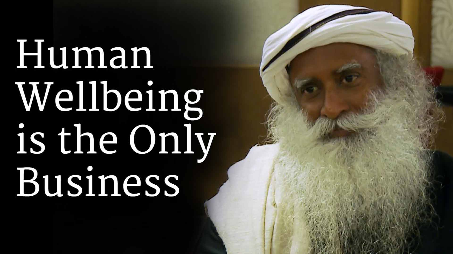 Human Wellbeing Is The Only Business