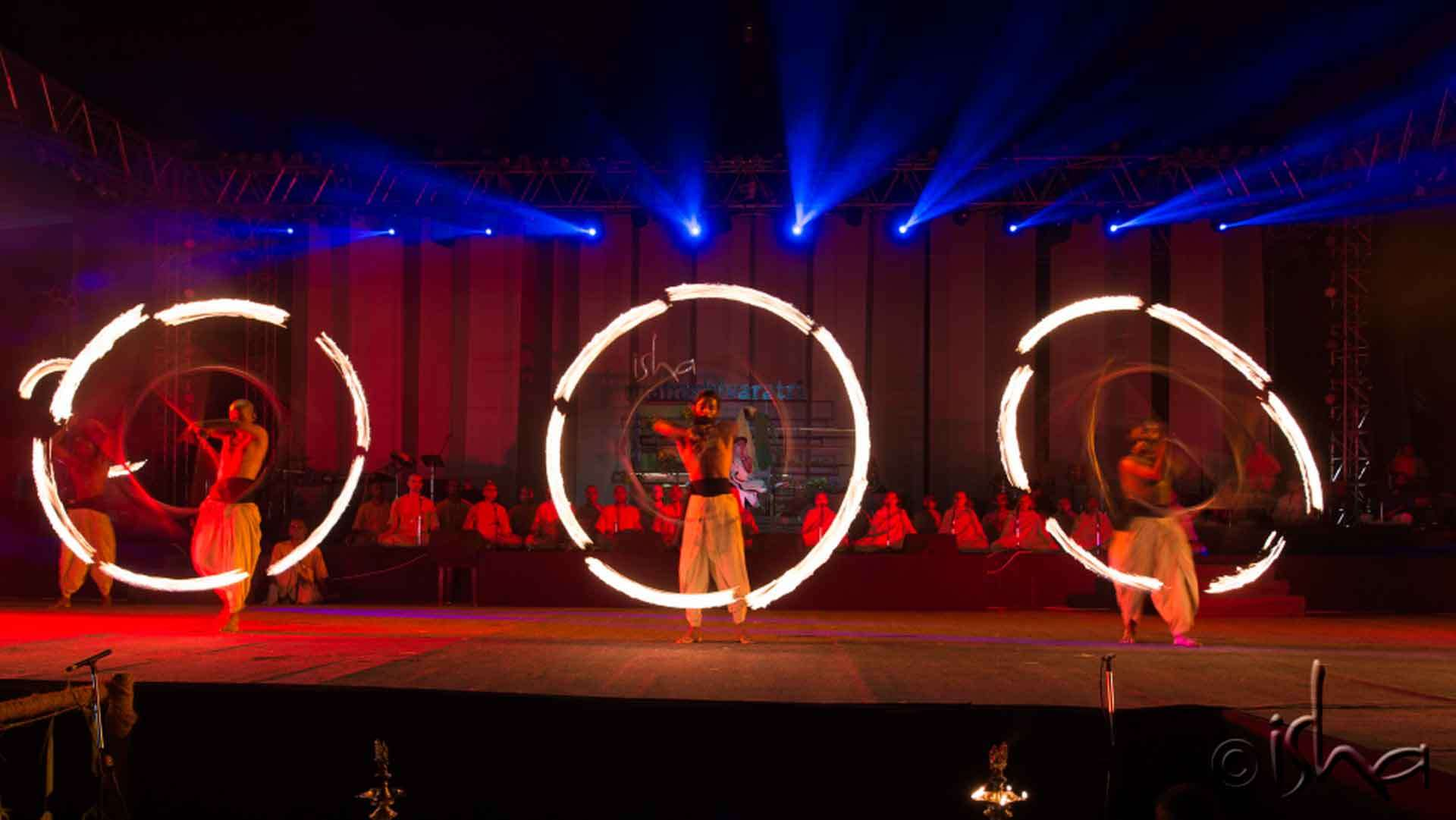 Fire performance by brahmacharis