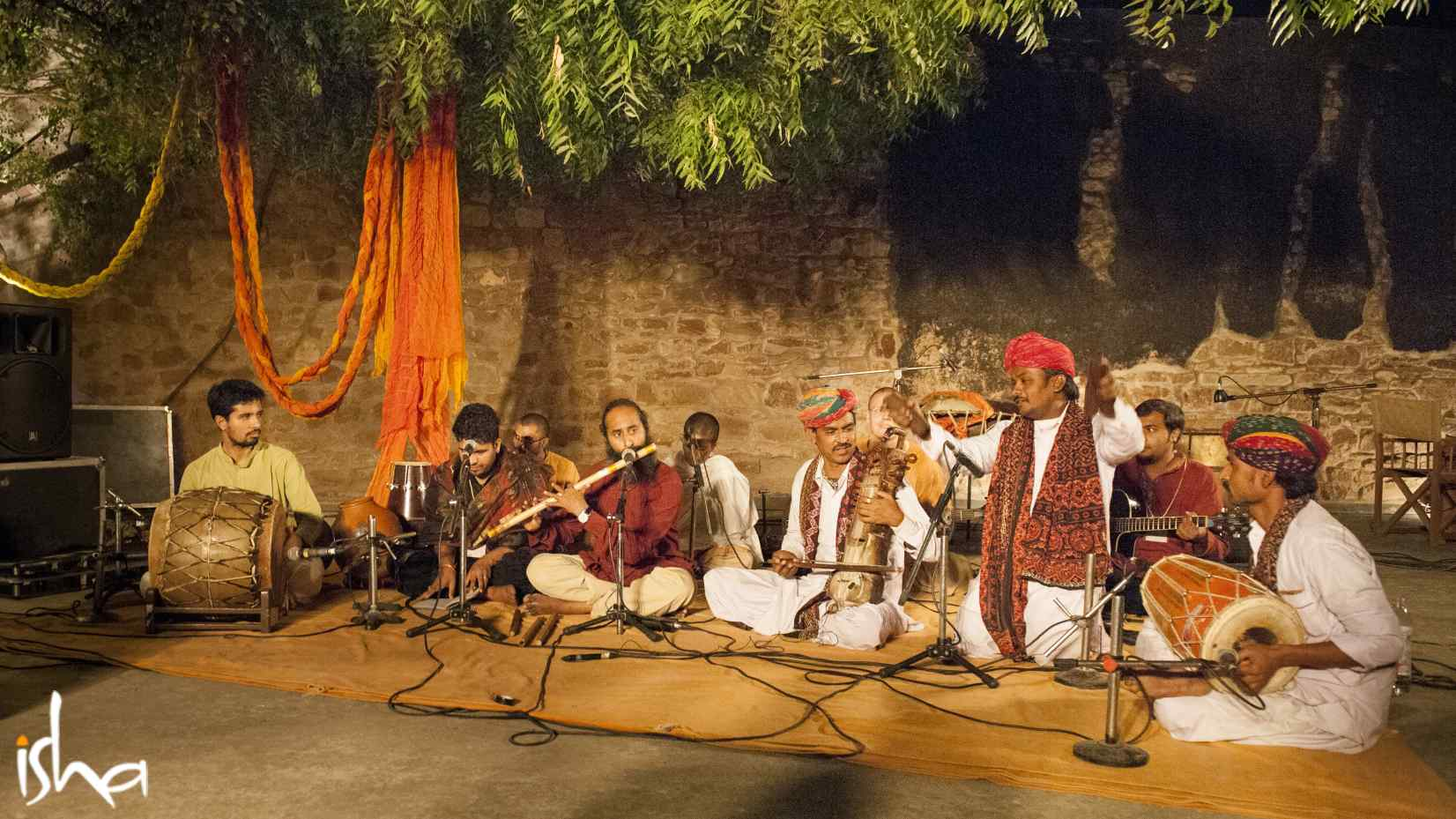 Sounds of Isha with Rajasthani folk artists in Nagaur, Rajasthan