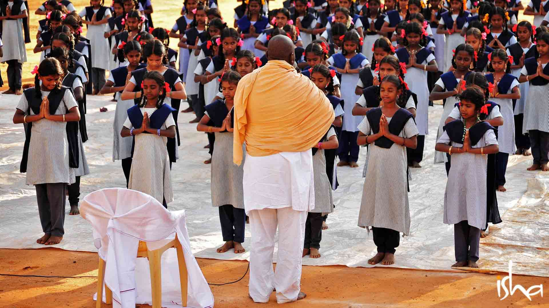 Yoga class for government school students