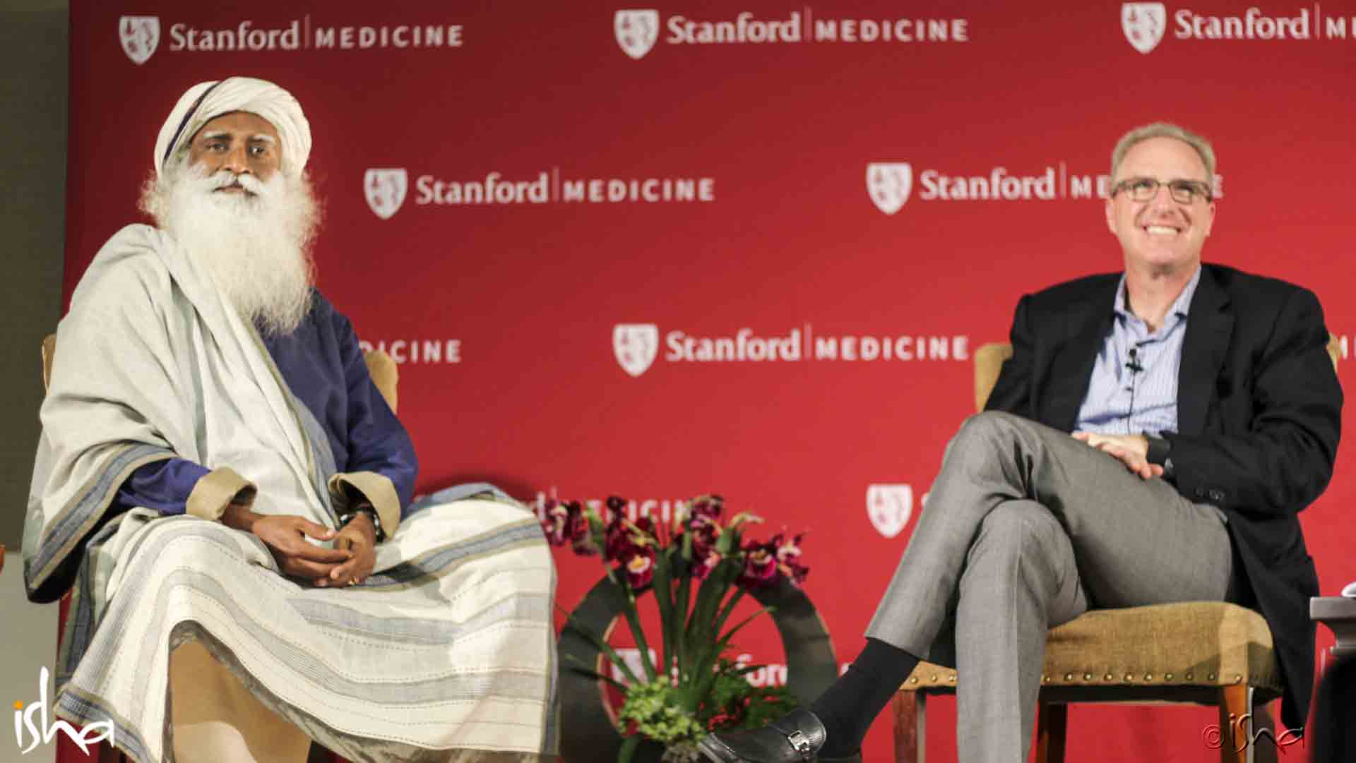 Jonathan Coslet, Chief Investment Officer, Partner, and Senior Partner, TPG Capital, L.P., in conversation with Sadhguru, Stanford University, Stanford, California