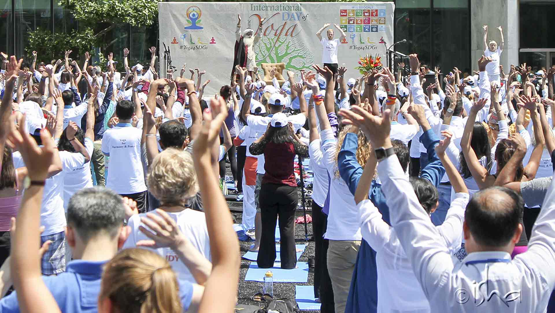 Yoga Session with Sadhguru at the United Nations on 21 June 2016