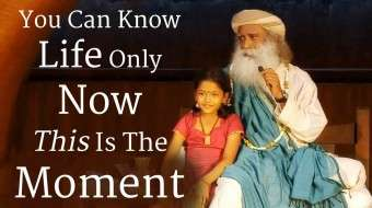 You Can Know Life Only Now - This is the Moment