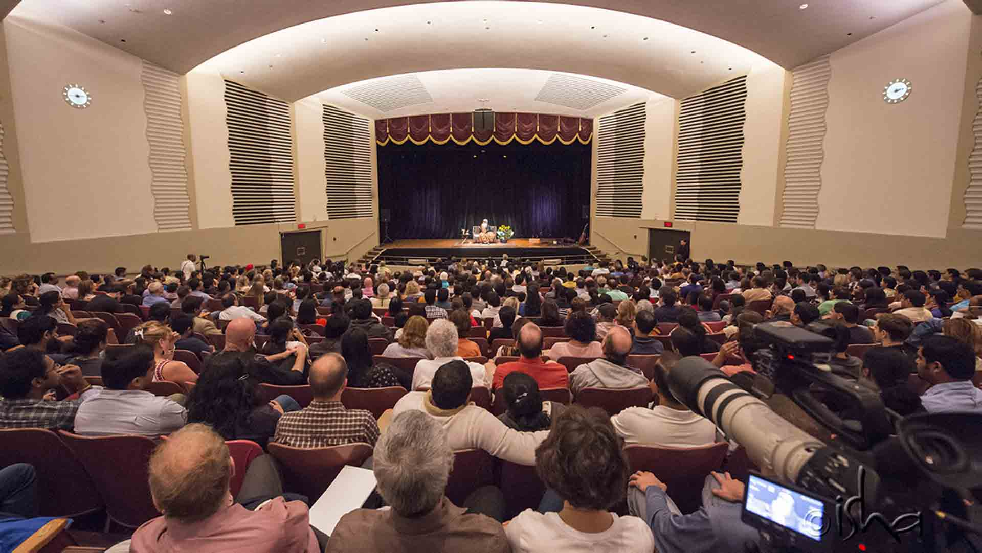 "Sadhguru in Boston, MA, the second stop of his current North American tour – ""Sadhguru in your City: Meet, Mingle & Meditate"""