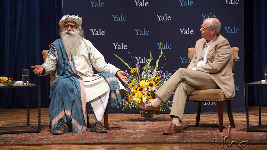 """Dr. Ben Doolittle in Conversation with Sadhguru on """"Compassion, Meaning, and Joy in the Practice of Medicine"""" at Yale University"""