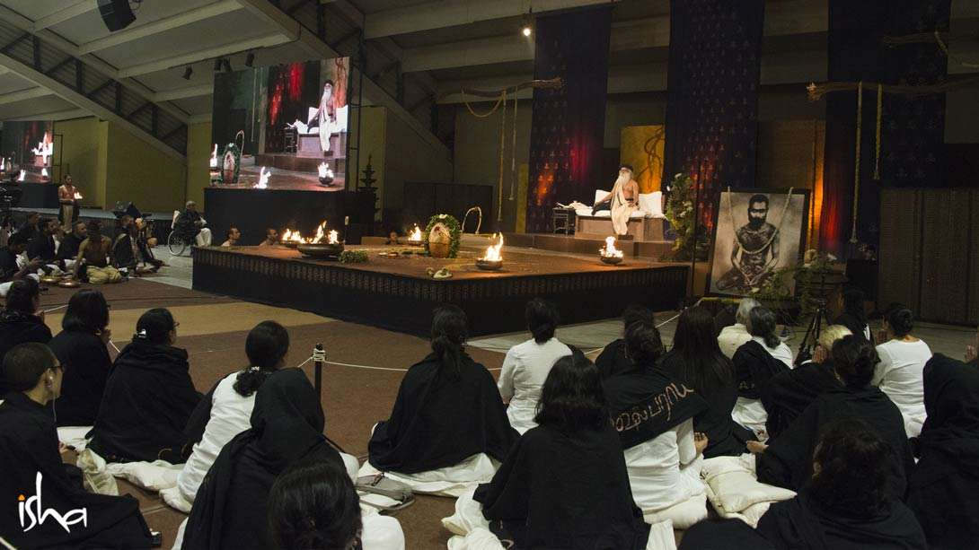 A moment of absolute stillness in the Presence of Sadhguru