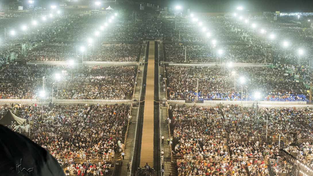 Mahashivratri participants as far as the eye can see
