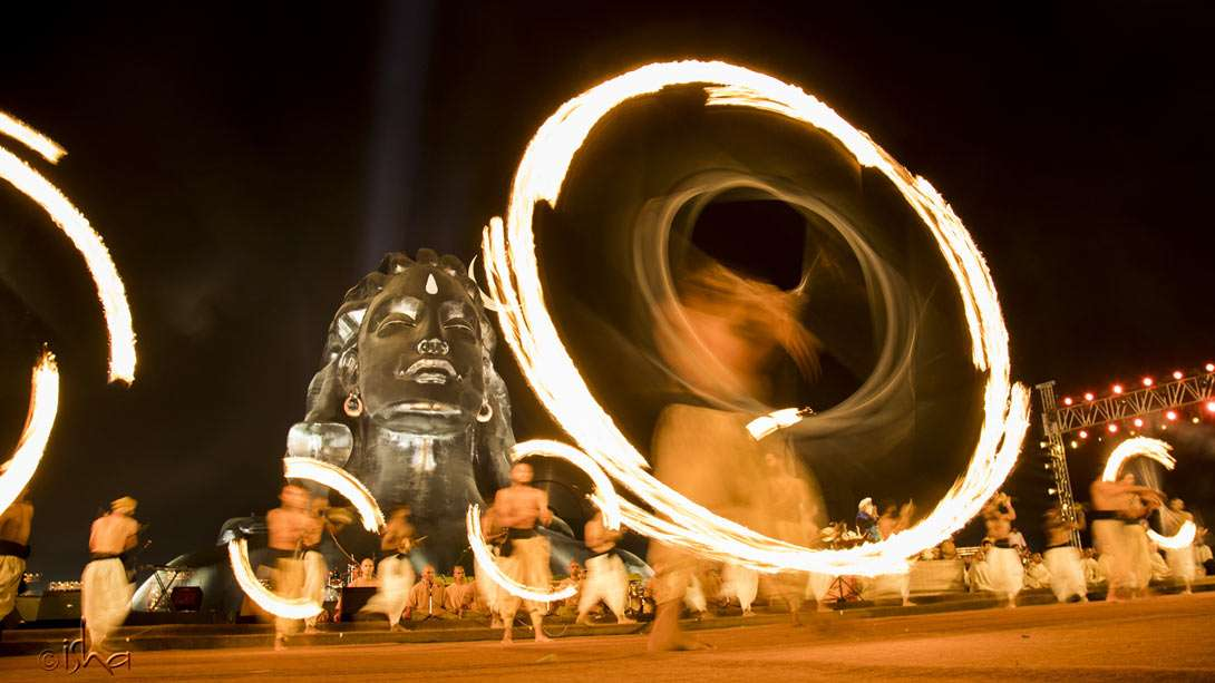 Dexterity and precision are vital to create these spinning circles of fire