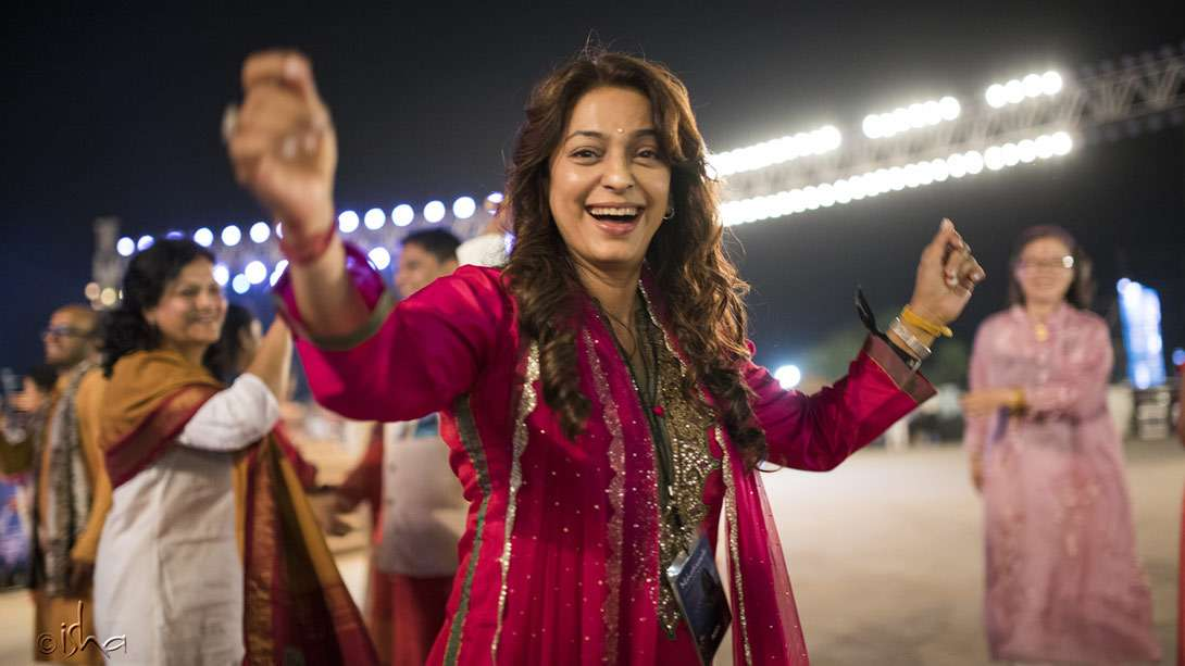 Juhi Chawla joining in the celebrations