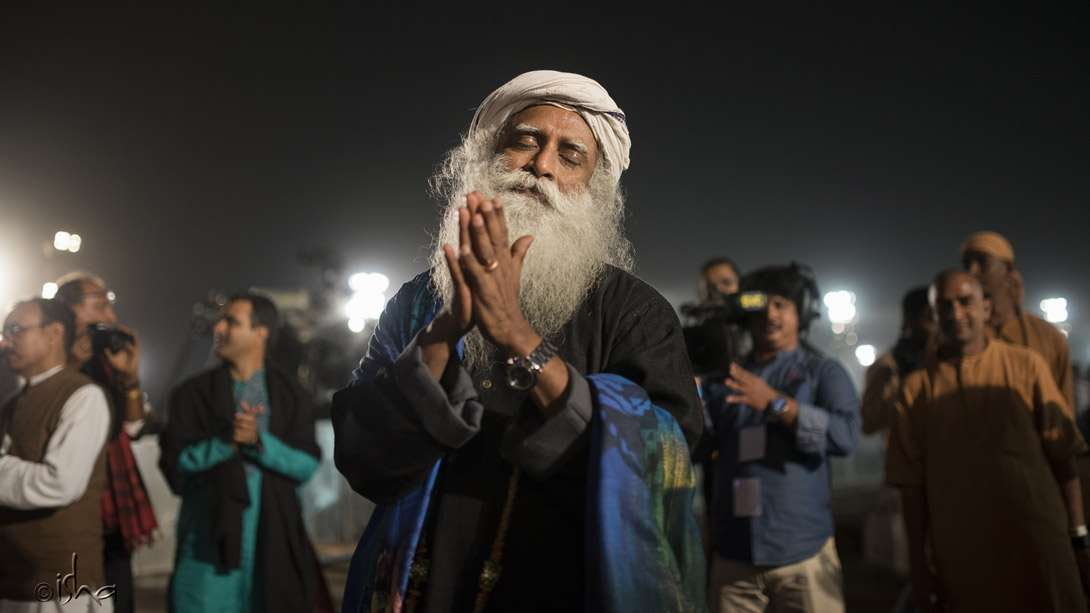Sadhguru in blissful abandon