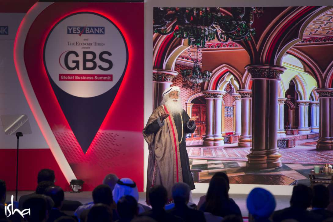 Sadhguru speaking on, Dealing with Uncertainty, at the Economic Times Global Business Summit