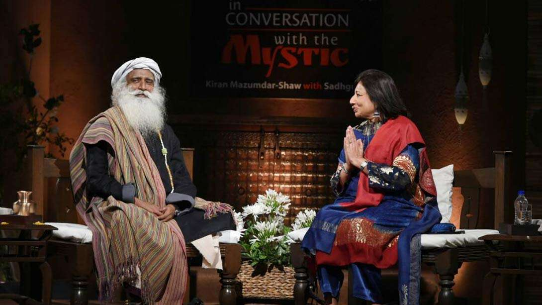 Sadhguru in Conversation with Biocon Founder Kiran Mazumdar Shaw in Bengaluru on April 23