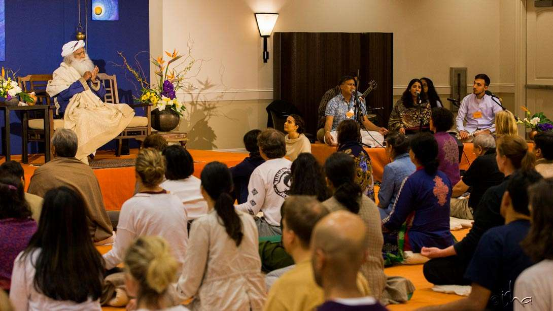 Day 2 of the Inner Engineering Retreat with Sadhguru in Carlsbad, California