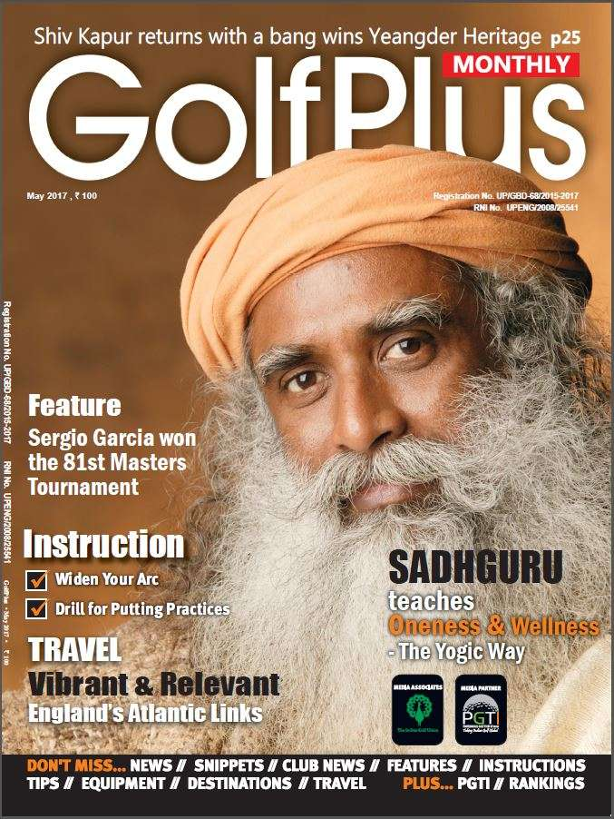 Sadhguru on the cover of Golf Plus
