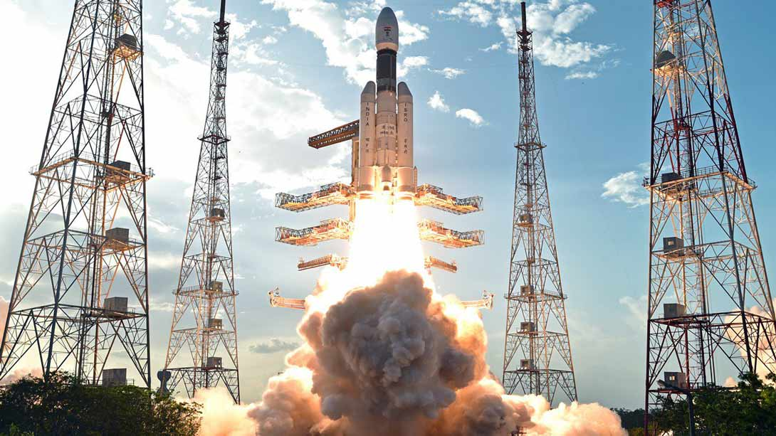 Launch of the Geosynchronous Satellite Launch Vehicle (GSLV) Mark (MK) III. The Indian Space Research Organisation's (ISRO) heaviest rocket so far was successfully launched on 5 June 2017.