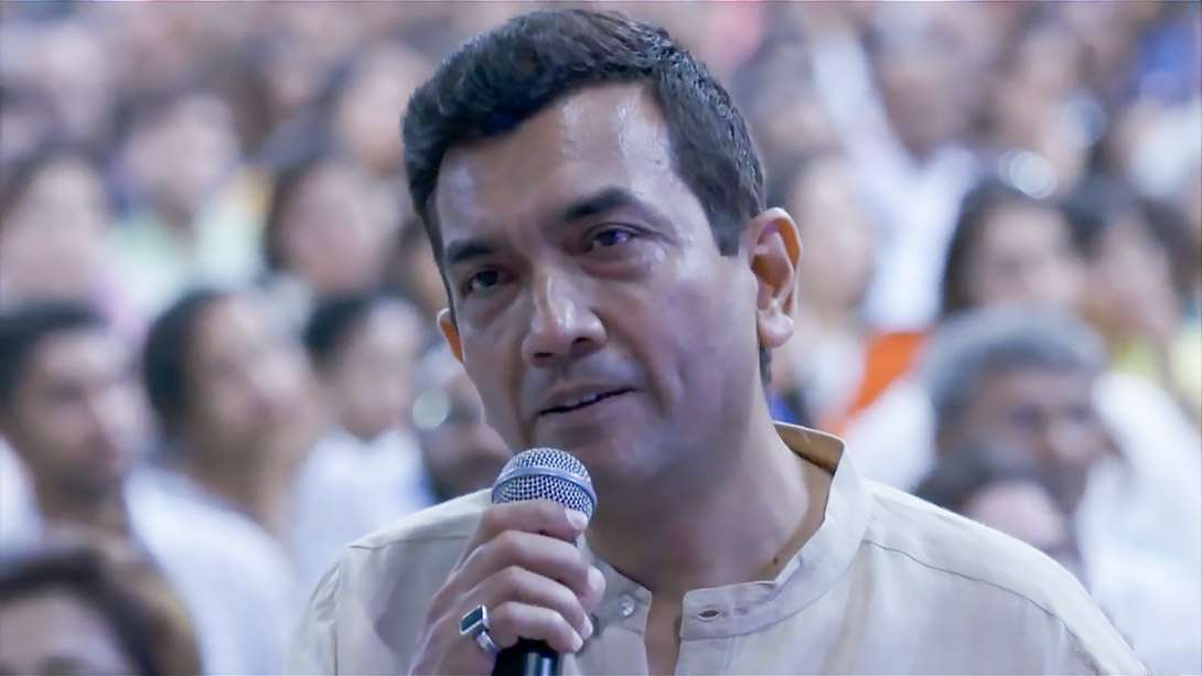 Celebrity chef Sanjeev Kapoor raising a question about the joy of cooking