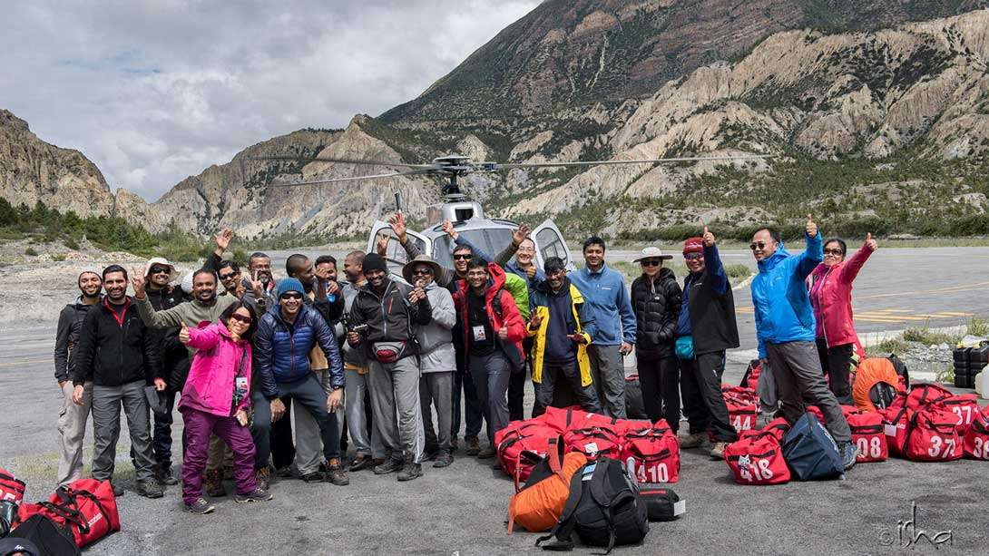 Kailash Sacred Walks participants looking forward to the next leg of their journey