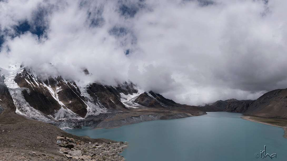 Tilicho Lake at an altitude of 4,919 meters (16,138 ft) in the Annapurna range
