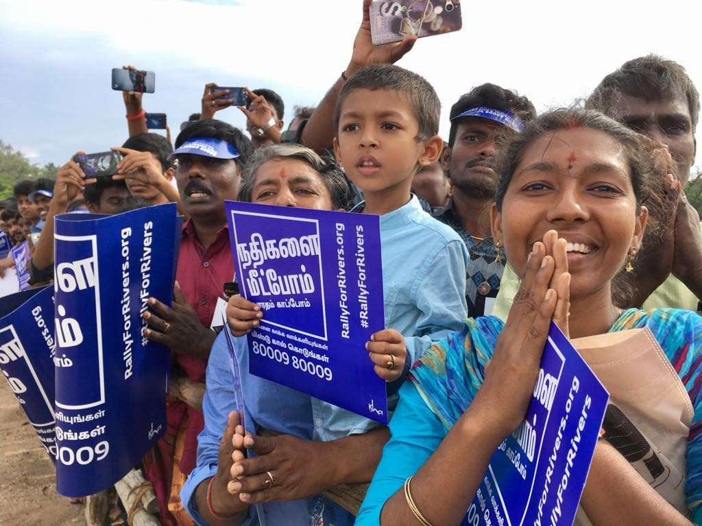 Rally For Rivers Sadhguru and Chief Guests Reaches the Venue Day 01 Coimbatore 03
