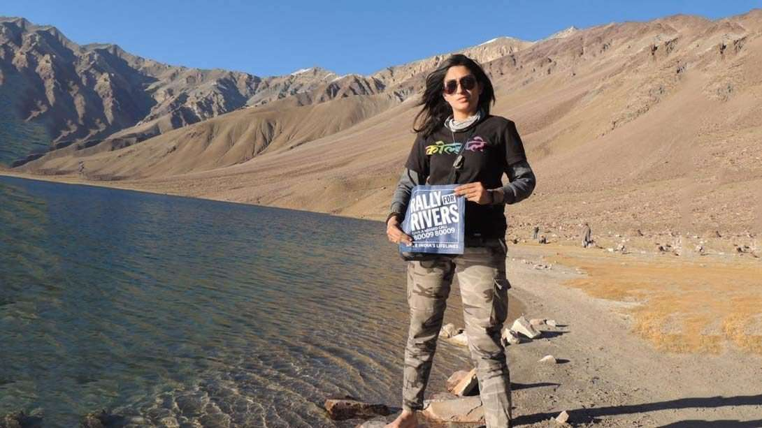 A Lone Bikerni Braves All Odds to Rally for Rivers