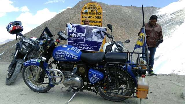 Siraj Mirza Rallies for Rivers at the Highest Motorable Pass in the World, Khardung-la