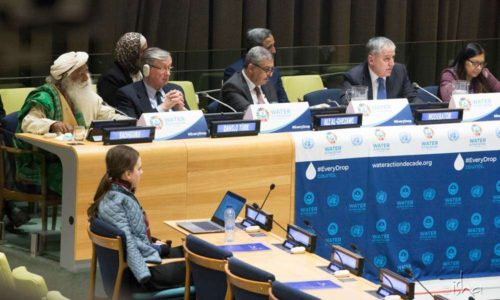 The UN event saw the launch of the International Decade for Action: Water for Sustainable Development 2018-2028.